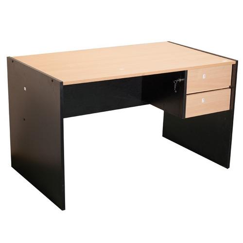 escritorio 402 de 1.20 mts melamina 2 cajones cerradura