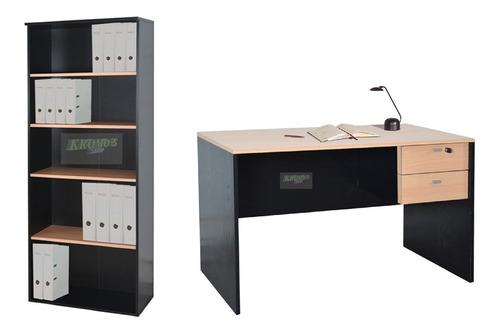 escritorio 501 + biblioteca 531 platinum +envío gratis caba