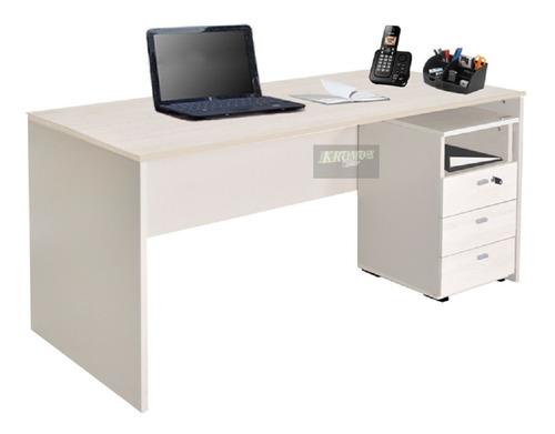 escritorio 503 1,50 m + cajonera + envió sin cargo caba