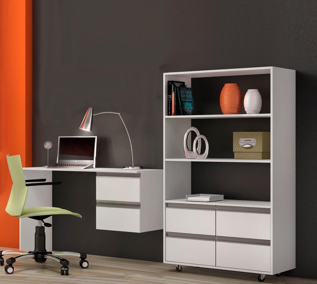 Escritorio Biblioteca Mesas De Pc Estante Muebles De Oficina  # Muebles Leandro