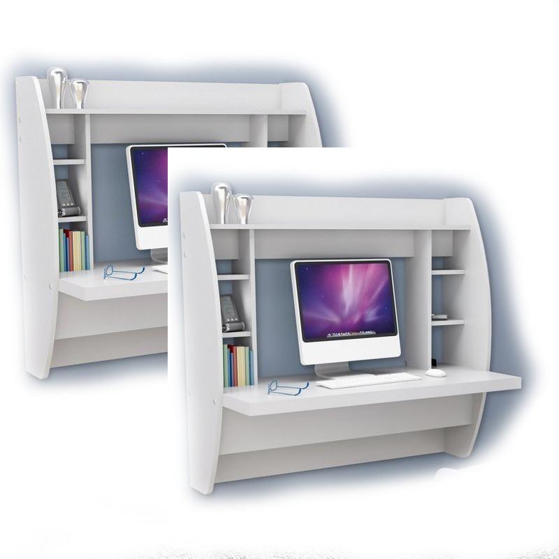 escritorio blanco flotante para o estudio