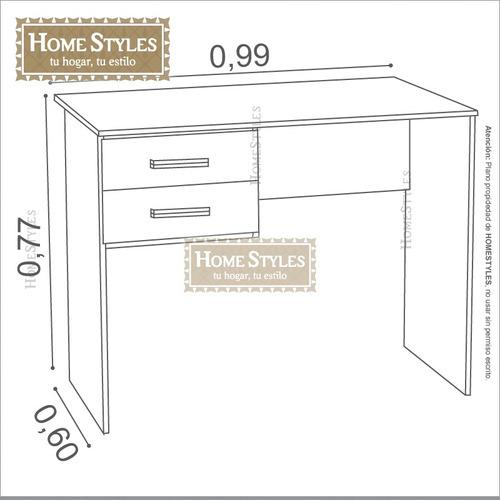 escritorio c/2 cajones 1mt. ancho | centro estant - sc1002