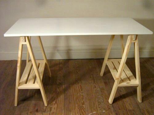 Escritorio caballetes en mercado libre - Mesas de tablones de madera ...