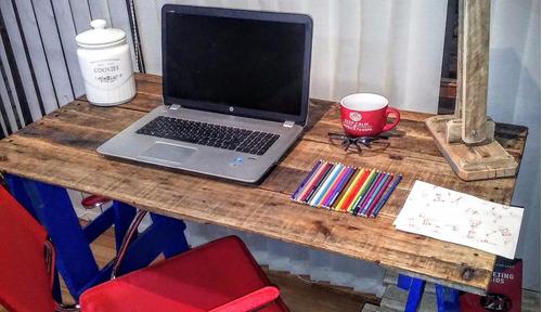 escritorio caballetes rustico pallets