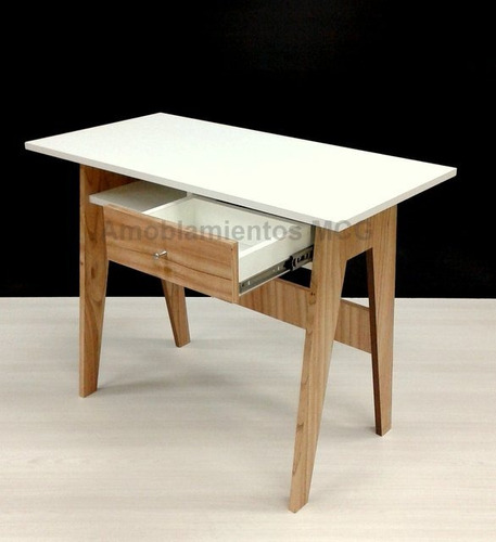 escritorio cajon nordico escandinavo vintage blanco laca