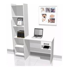 Escritorio Con 1 Cajon + Biblioteca 011-combo-001