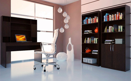escritorio con alzada y cajon computacion estudiante muebles
