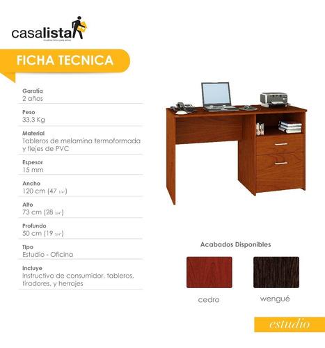 escritorio con archivador  casa lista estudio