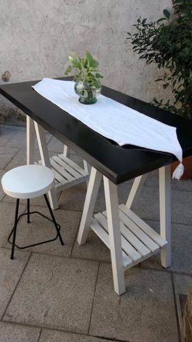 escritorio con cabaletes nordico 120x60cm laqueado