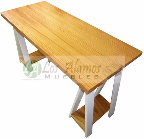 escritorio con caballete patinado de 1.20x0.45x0.80