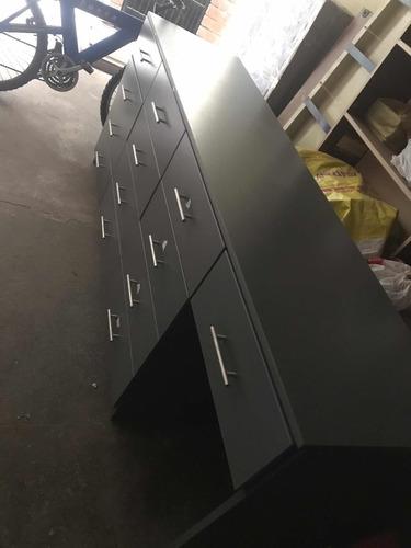 escritorio con cajones de melamine
