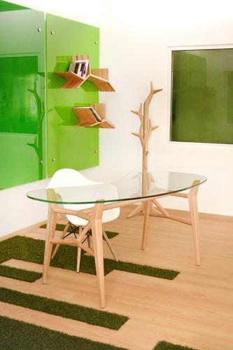 escritorio con cubierta en cristal templado che'