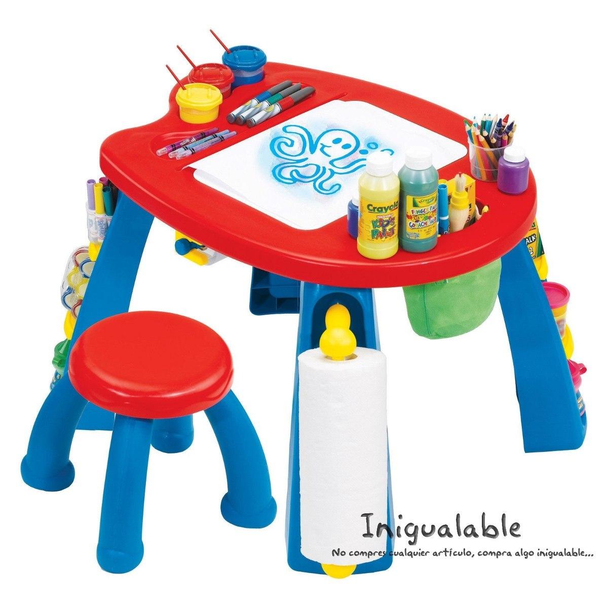 Escritorio con mesa y sillas para ni os crayola 2 350 for Mesas para ninos en walmart