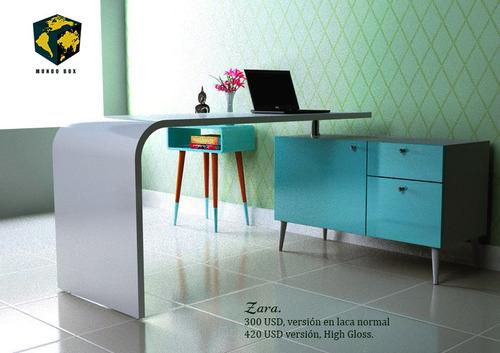 escritorio curvo moderno minimalista zara