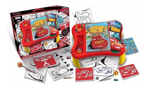 escritorio de aventuras para pintar y jugar cars babymovil
