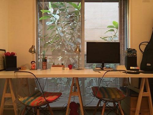 escritorio de caballetes largo, 2 personas