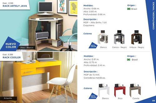 escritorio de color mesa para pc oficina o habitacion - artely coolore 2230 - envio sin cargo caba y gba