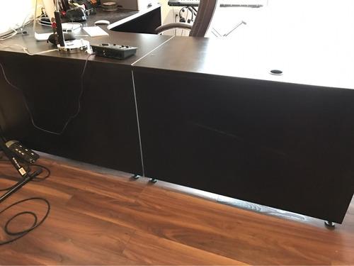 escritorio de dos piezas modular grande