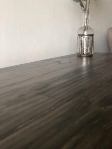 escritorio de madera con caballetes 100x55 cm