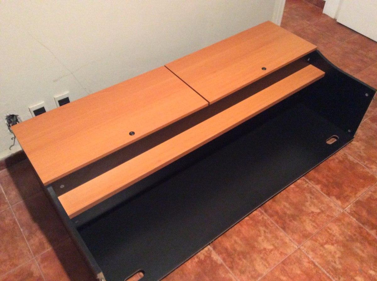 Escritorio de madera con cajonera al piso y superior - Cajonera para escritorio ...