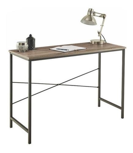 escritorio de madera minimalista
