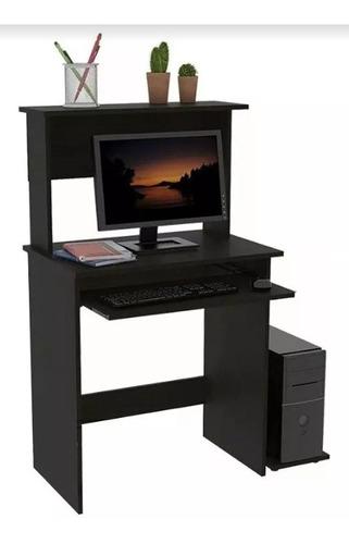 escritorio de melamina con porta teclado y porta cpu