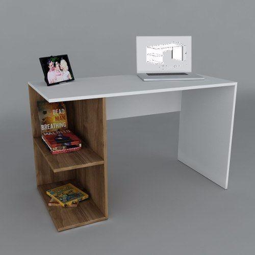 Escritorio de melamina melamine para laptop notebook s - Como hacer una mesa de escritorio ...