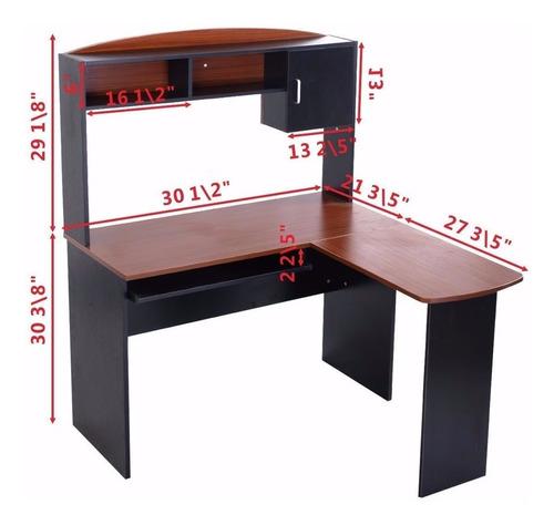 escritorio de oficina en forma de l 0504