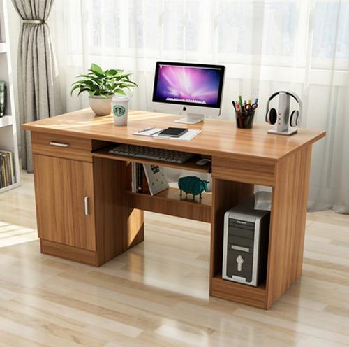 escritorio de pc con cajón puerta estantes espacio gabinete