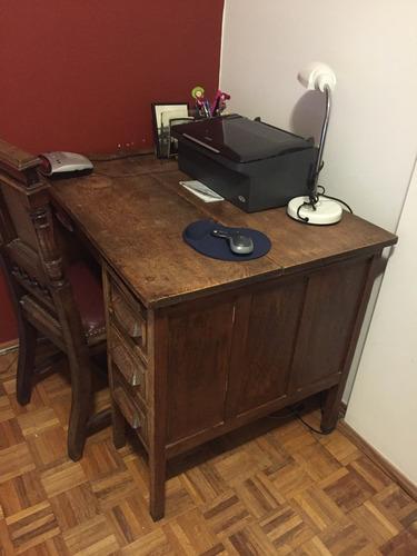 escritorio de roble
