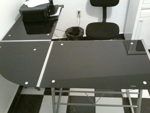 escritorio de vidrio templado
