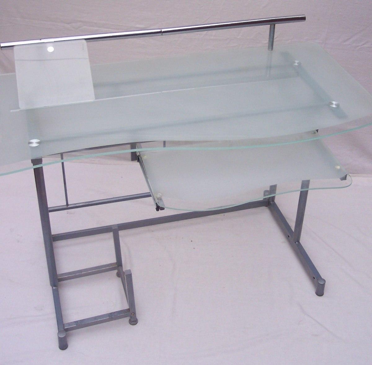Mesa de cristal escritorio elegant mesa cristal y - Mesa escritorio cristal ikea ...