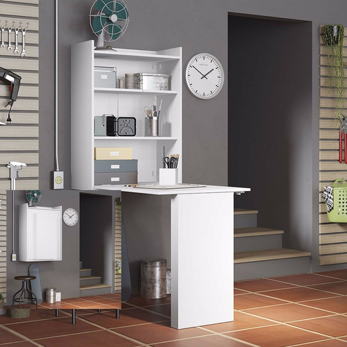 escritorio desayunador plegable pared repisa monoambiente