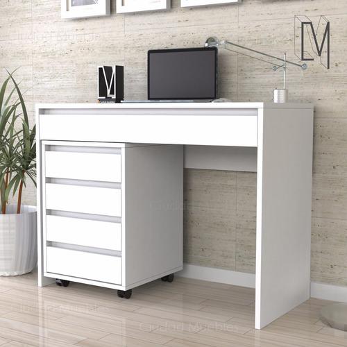 escritorio diseño moderno + cajonera archivero con ruedas!!!