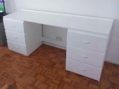 escritorio doble cajonera