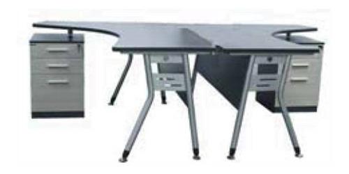 escritorio doble fendi estación trabajo oficina pcnolimit