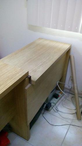 escritorio ejecutivo de 75 x 1.50 x 75 de madera en  l