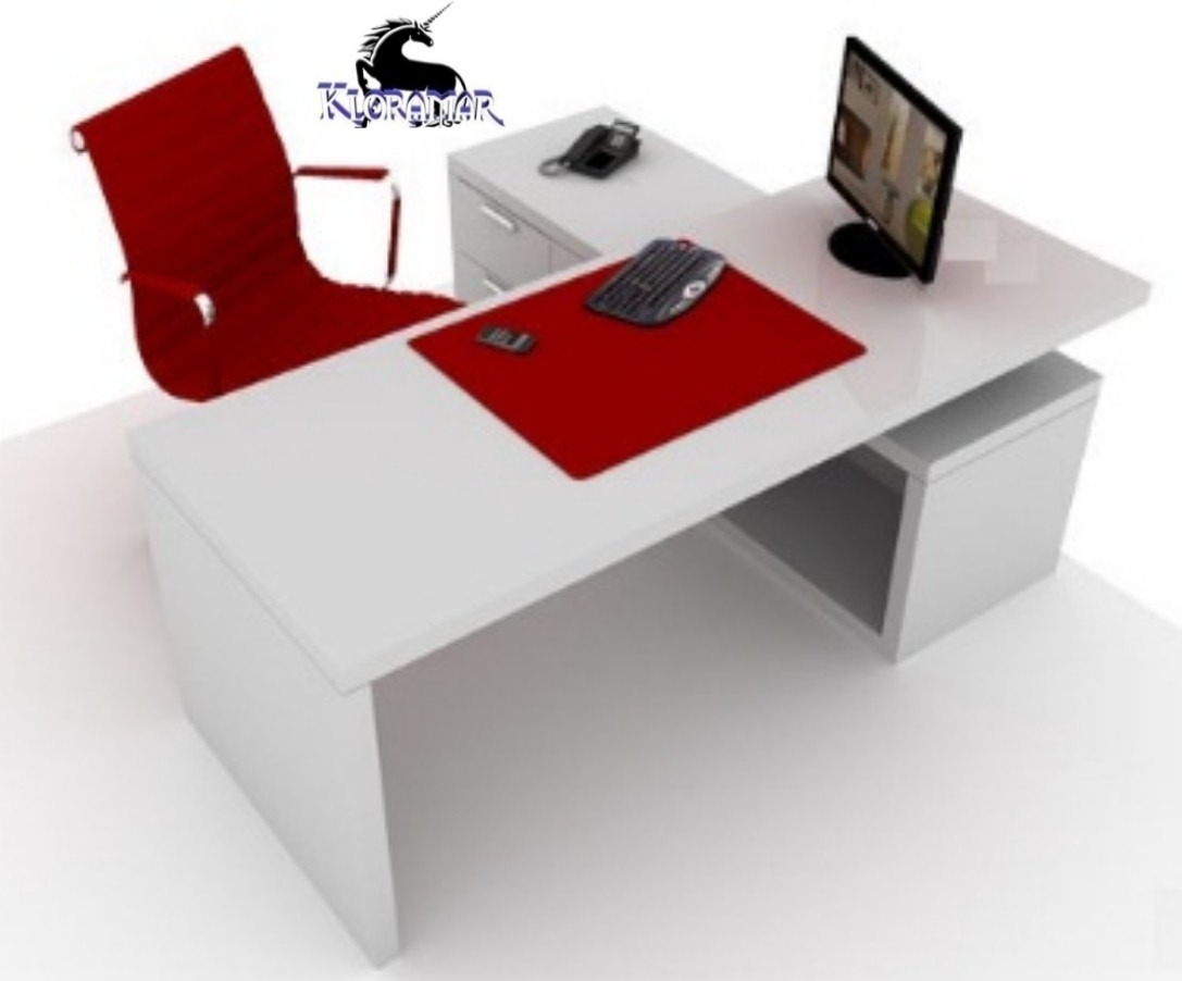 Escritorio Ejecutivo Minimalista Con Credenza 1 70 De Largo  # Muebles Requero