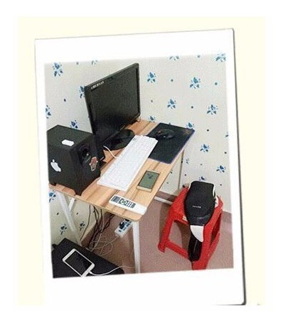 escritorio elisa 80x40x74cm base metalico cubierta madera