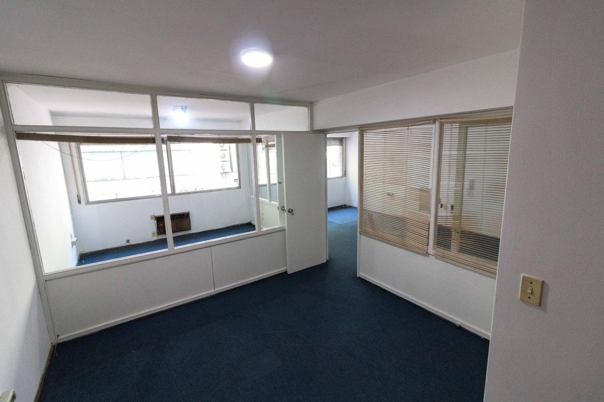 escritorio en el centro con 2 oficinas y recepción