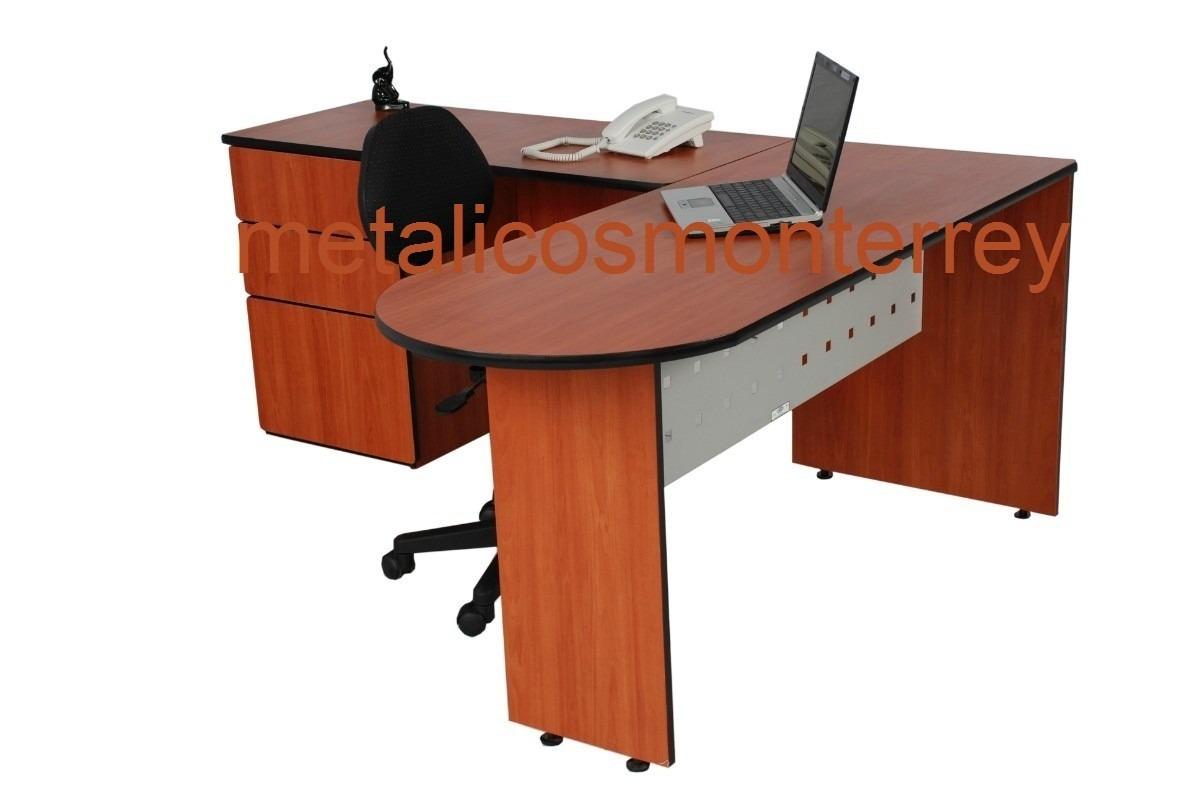 Escritorio en ele oficina pantalla met 3 cajones nuevos for Mesas de oficina precios