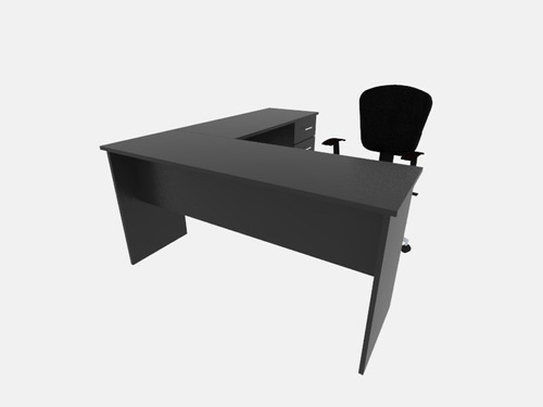 escritorio en l de melamina, muebles de oficina