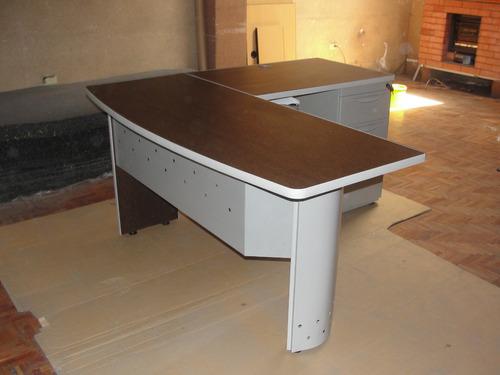 escritorio en l estacion de trabajo en melaminico de oficina