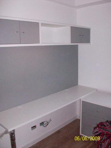 escritorio en melamina 120 x 60 cm con 2 patas cromada