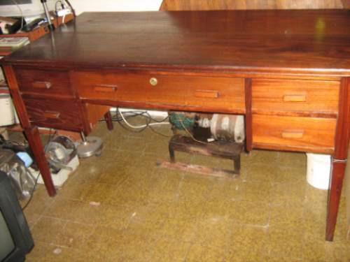 escritorio en roble antiguo macizo
