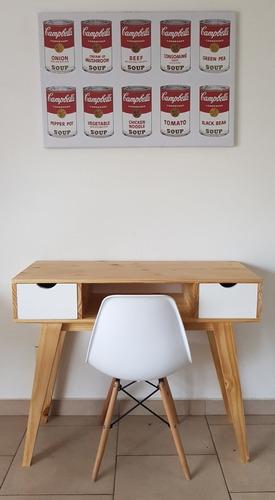 escritorio escandinavo silla eames nordico retro pino