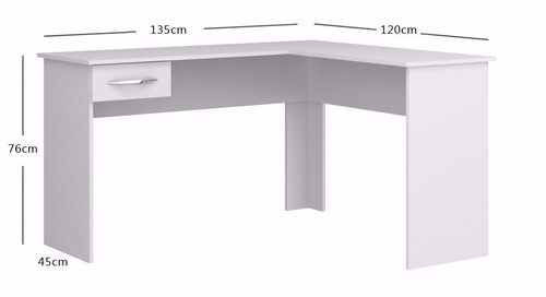 escritorio esquinero en  l  con un cajón - oficina