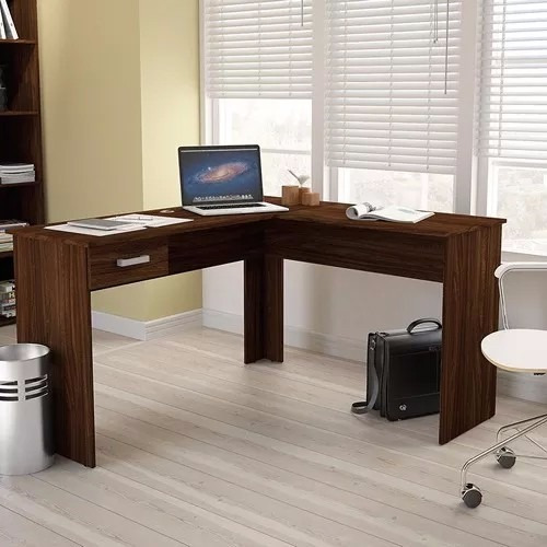 escritorio esquinero l - mesa pc - oficina - mueble 703- lcm