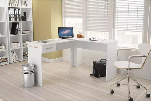 escritorio esquinero l - mesa pc - oficina - mueble - lcm