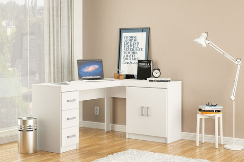 escritorio esquinero mesa de pc melamina 3 cajones  2250+